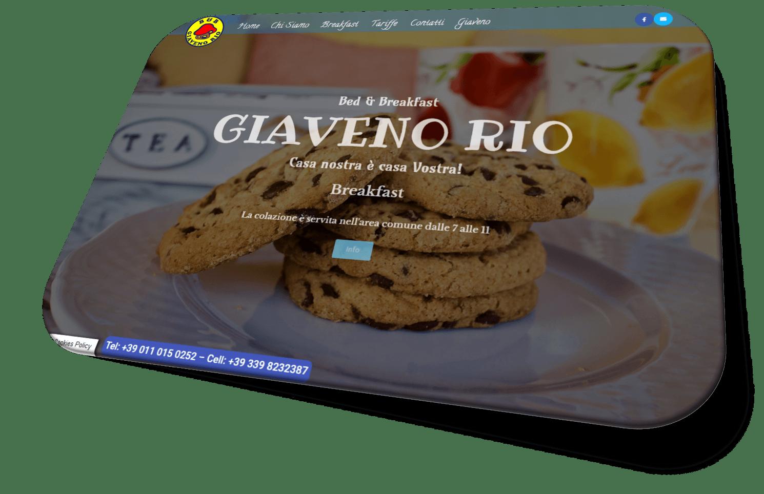 Sito B&B Giaveno Rio