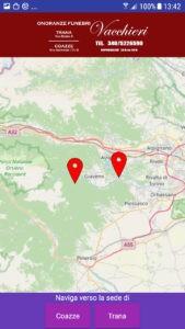 Onoranze Funebri Vacchieri APP Mappa Navigatore