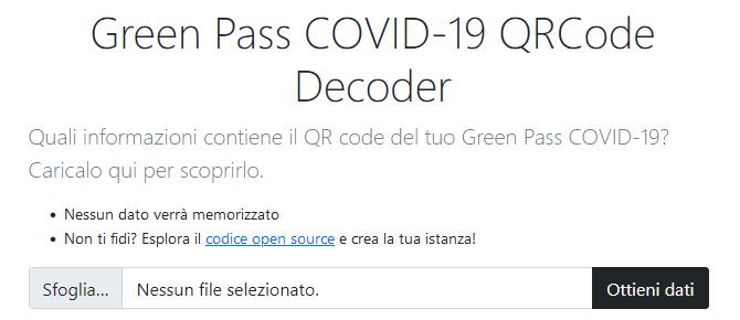 2021 Lettore QR GP